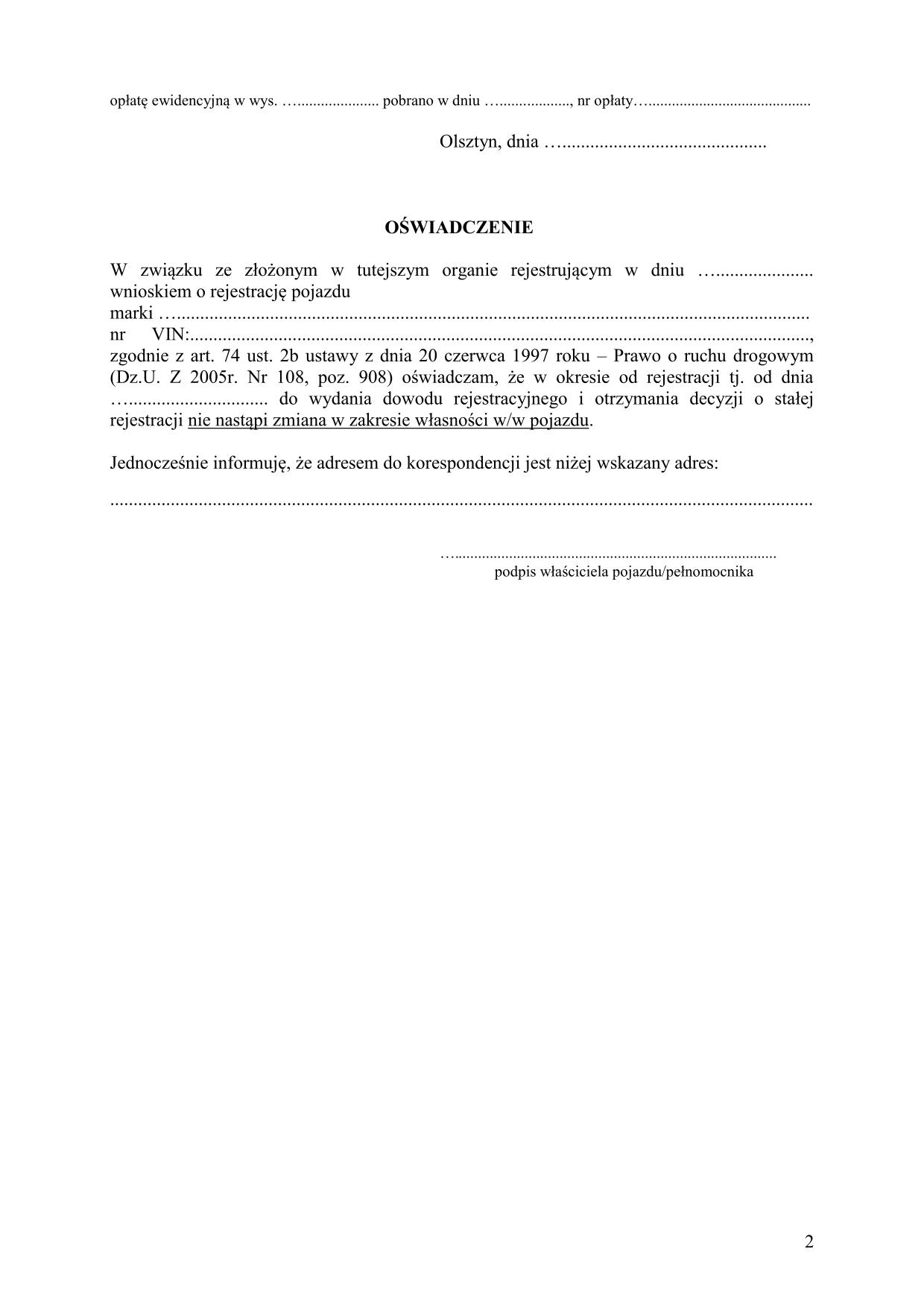 WoRWP-Ol Wniosek o rejestrację, | druk, formularz online