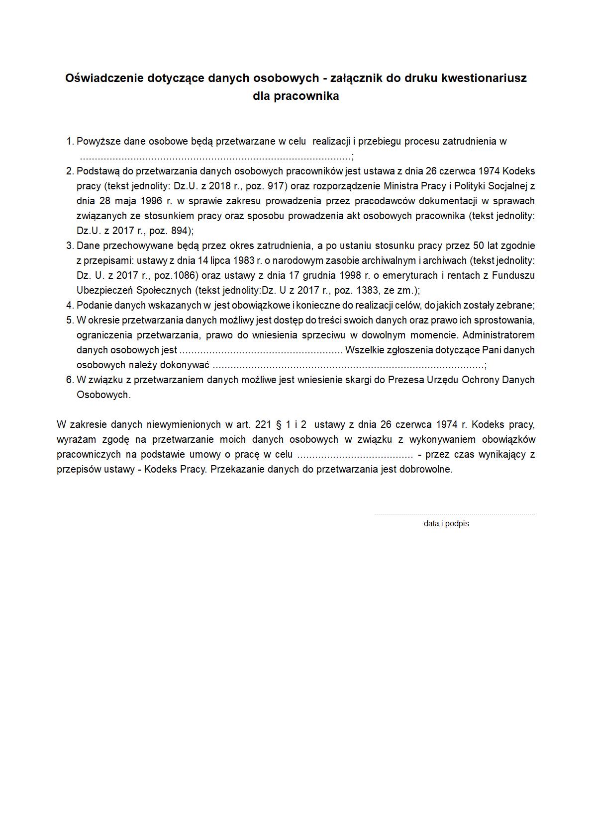 36696f990c10ce KOP-zal Oświadczenie dotyczące | druk, formularz online