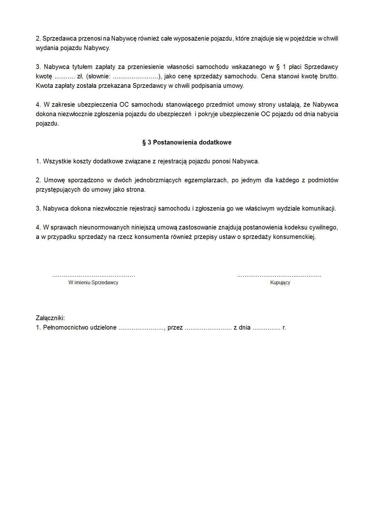Usspk Umowa Sprzedaży Samochodu Druk Formularz Online