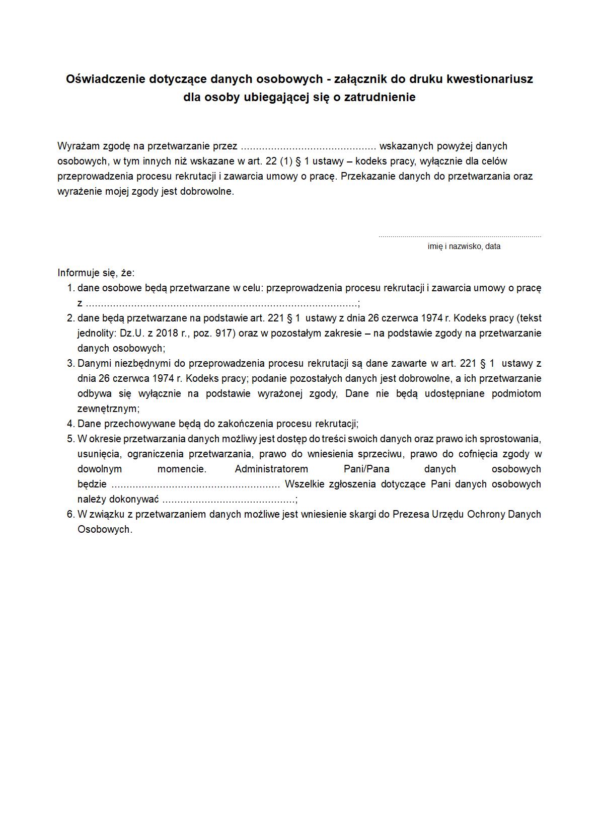 6dc5f95abebfd1 KOUoZ-zal Oświadczenie dotyczące | druk, formularz online
