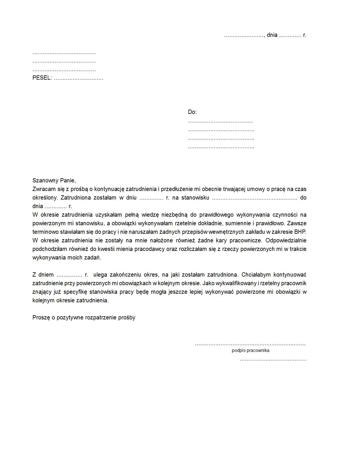 Wpz Wniosek O Przedłużenie Druk Formularz Online