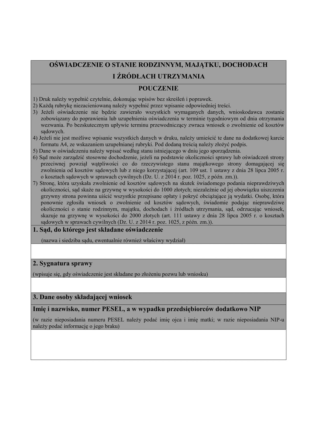 957e1c9a3d1520 OoSRMD (od 2015) Oświadczenie o | druk, formularz online