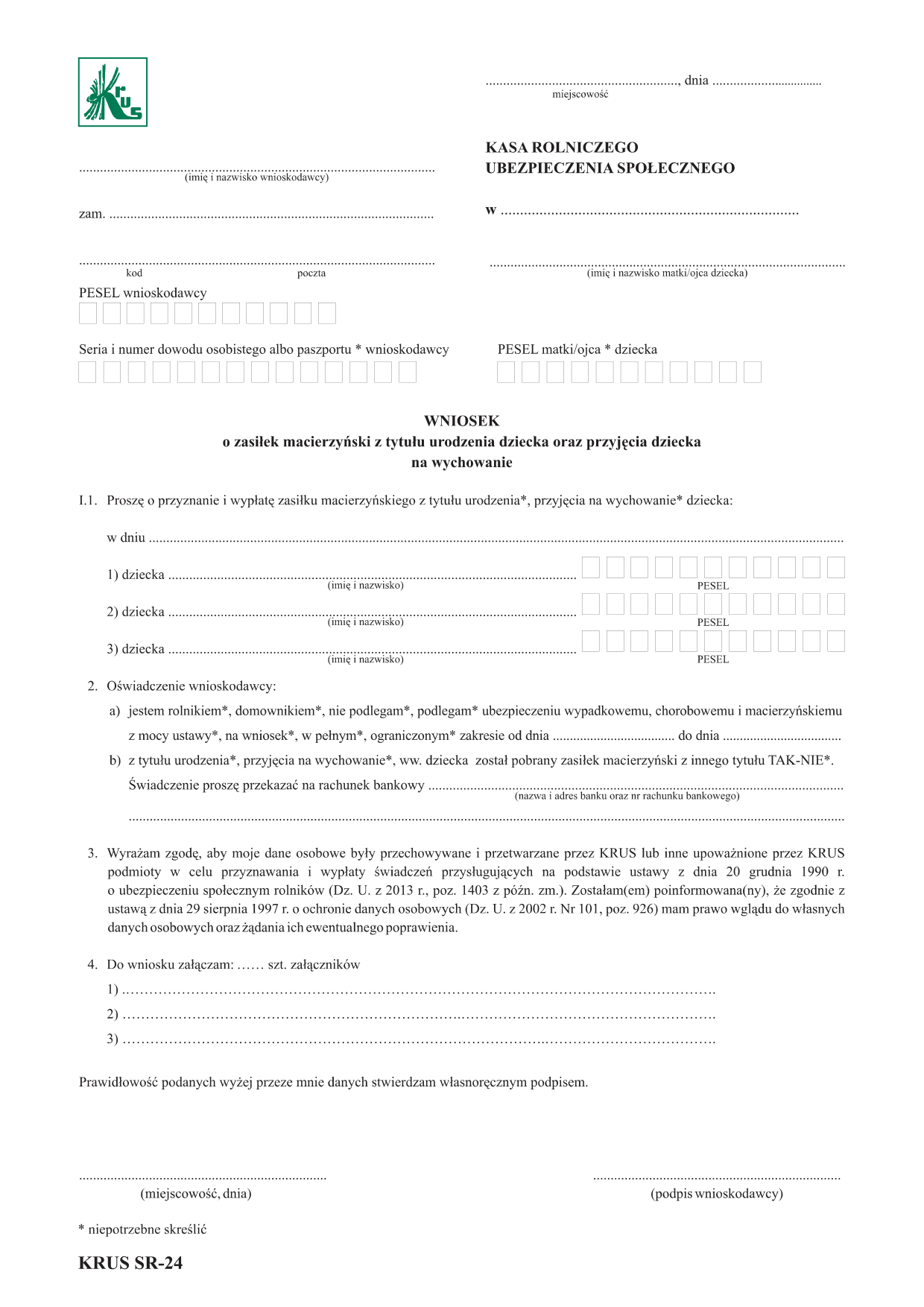 Formularz paszportowy