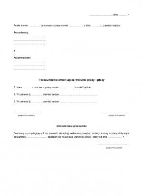 PZWPIP Porozumienie zmieniające warunki pracy i płacy