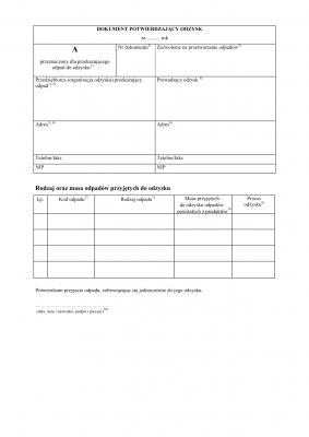 DPO (archiwalny) Dokument potwierdzający odzysk